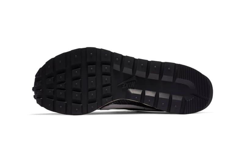 sacai nike collaboration vaporwaffle sneakers black white pink blue colorway sneakerhead footwear shoes chitose abe