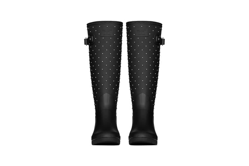 Saint Laurent Hunter Rain Boots Collaboration Studded Rubber Black