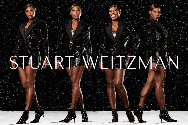 Serena Williams Stuart Weitzman Winter Collection Campaign Carine Crystal Bootie