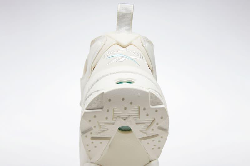 snidel reebok instapump fury white minimal chunky sneakers collaboration release