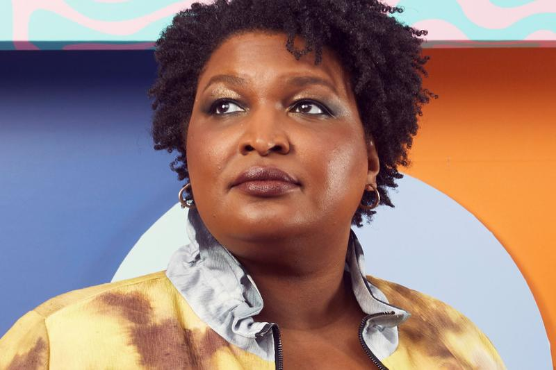 Stacey Abrams Bustle Rule Breakers 2019 Red Carpet