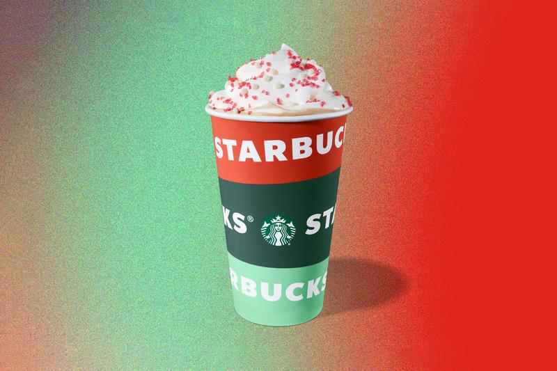 Starbucks Holiday Drinks Cup Peppermint Mocha Eggnog Latte Toasted White Chocolate Caramel Brulee Chestnut Praline