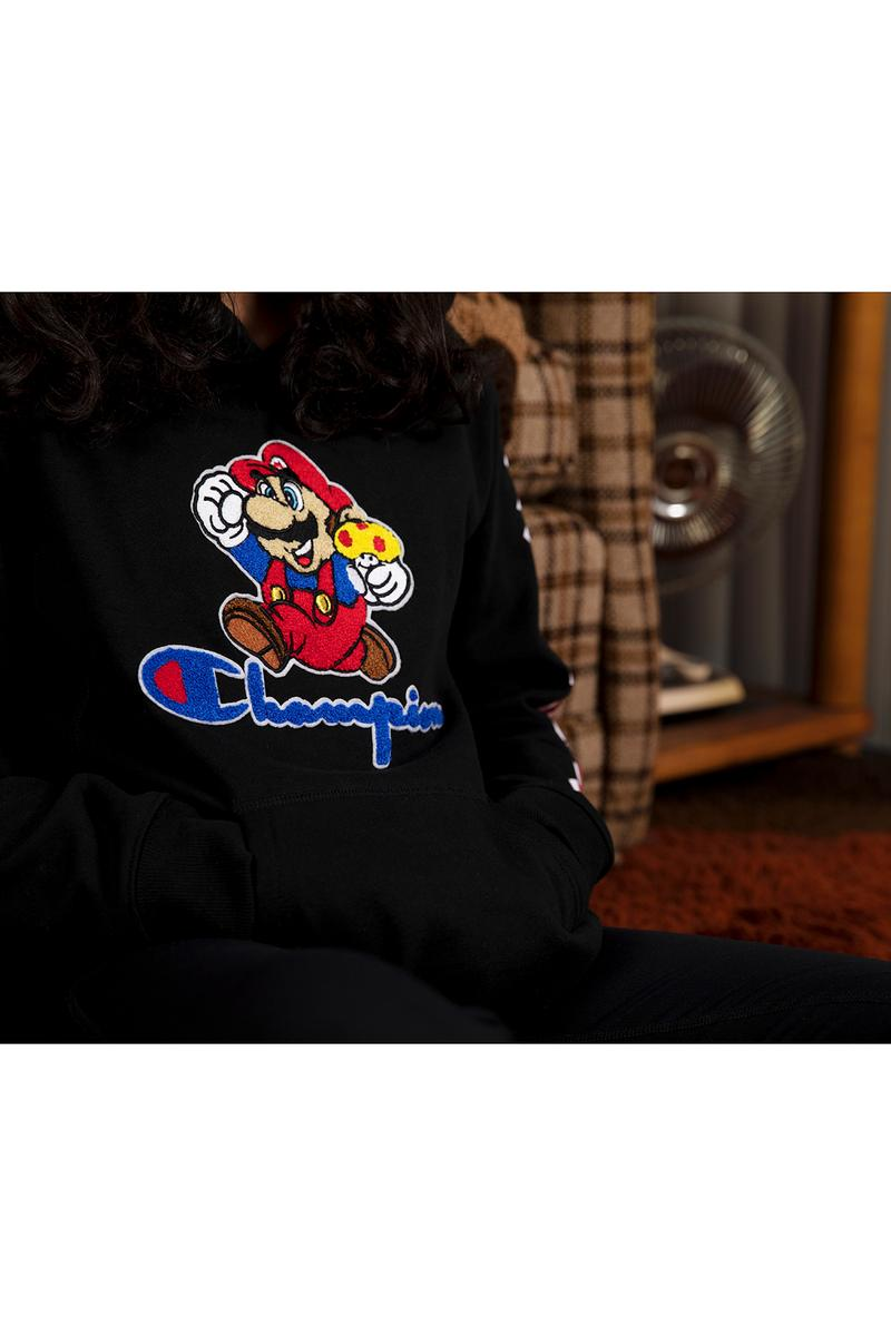 Super Mario Bros. x Champion Collaboration Collection Hoodie