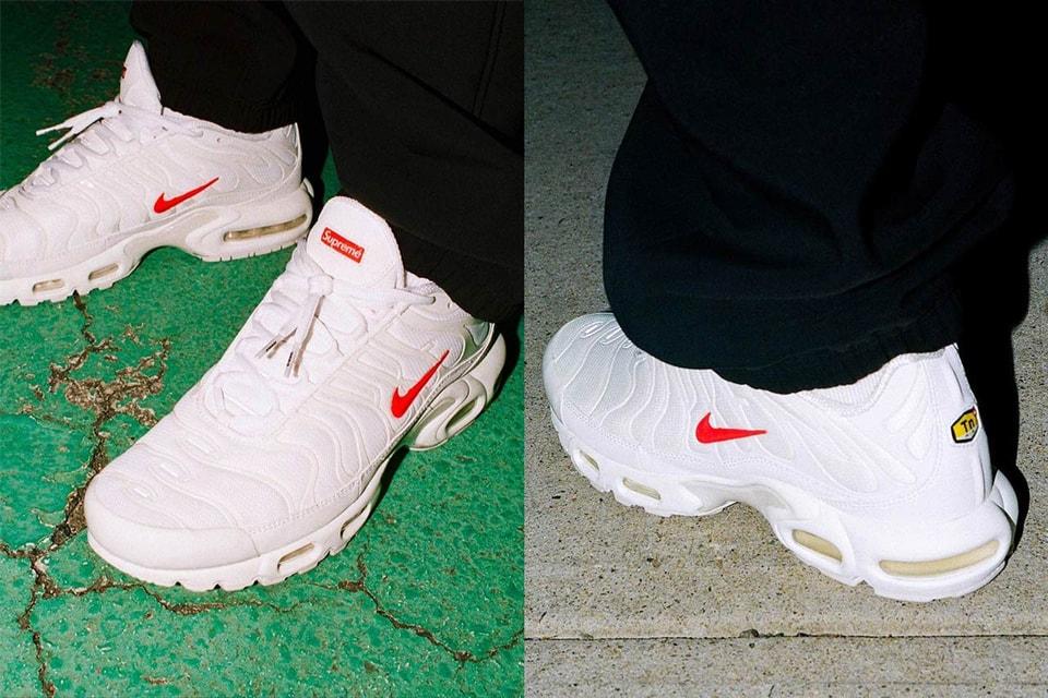 De acuerdo con Hacia fuera ideología  Supreme x Nike's Air Max Plus