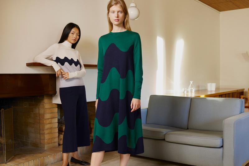 uniqlo marimekko holiday collaboration outerwear jackets dresses