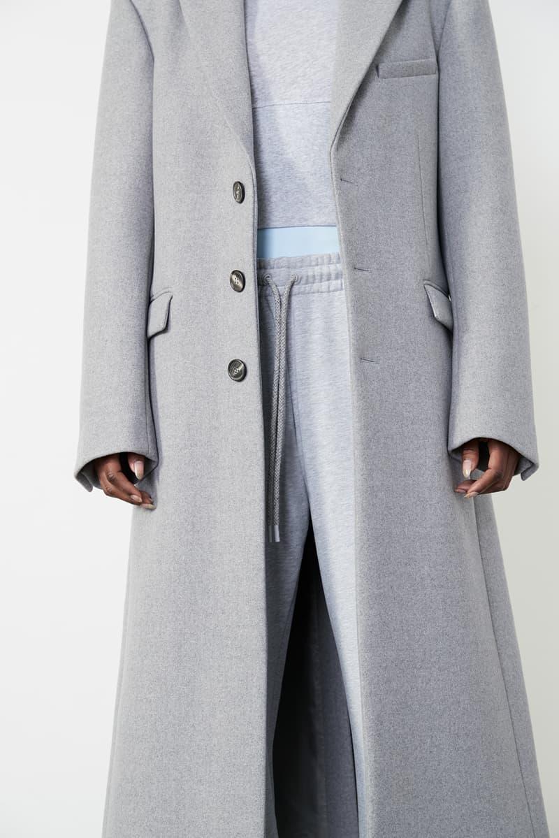 wardrobe nyc permanent collection minimal coats outerwear jackets pants skirts white black shirts