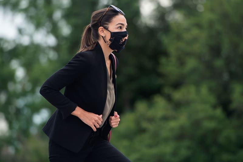 aoc alexandria ocasio cortez face mask covering coronavirus covid19 where to buy leah kirsch tie-dye