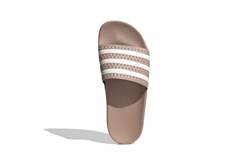 adidas adilette w slides sandals womens nude brown beige white footwear