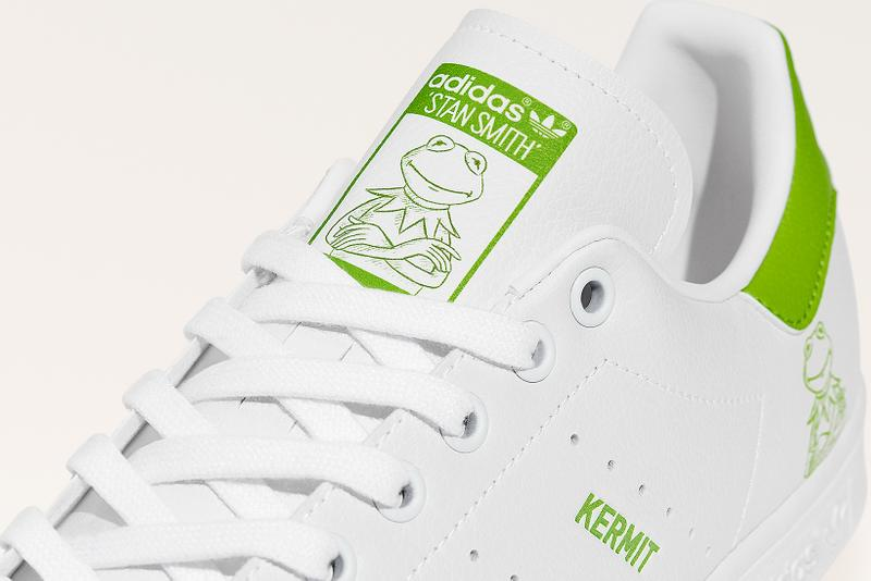 adidas originals muppets kermit the frog stan smith collaboration sneakers white green colorway footwear shoes sneakerhead
