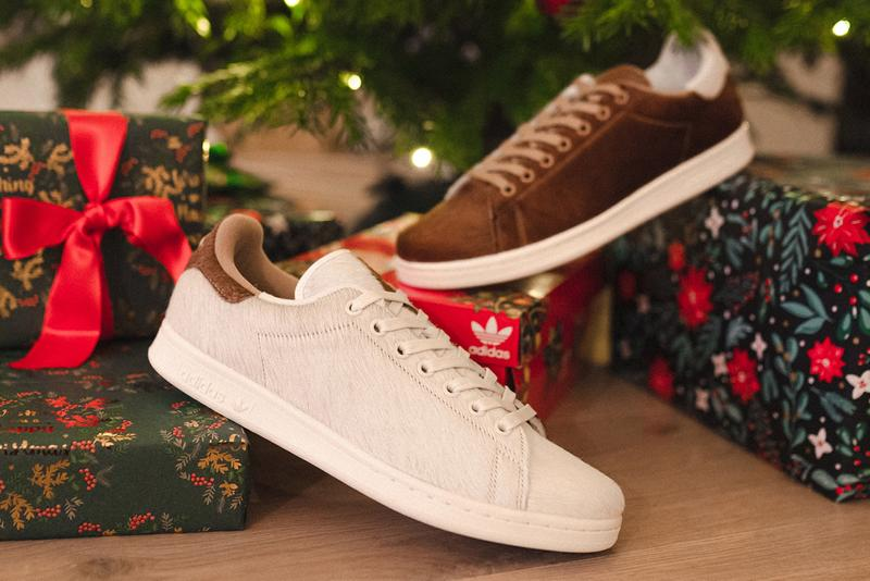 adidas originals stan smith christmas monster gremlin mogwai gore-tex faux fur hairy holiday sneakers