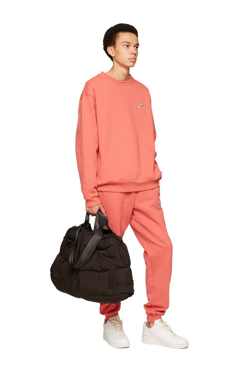 atelier new regime montreal brand fall winter lookbook orange coral sweats sweater pants