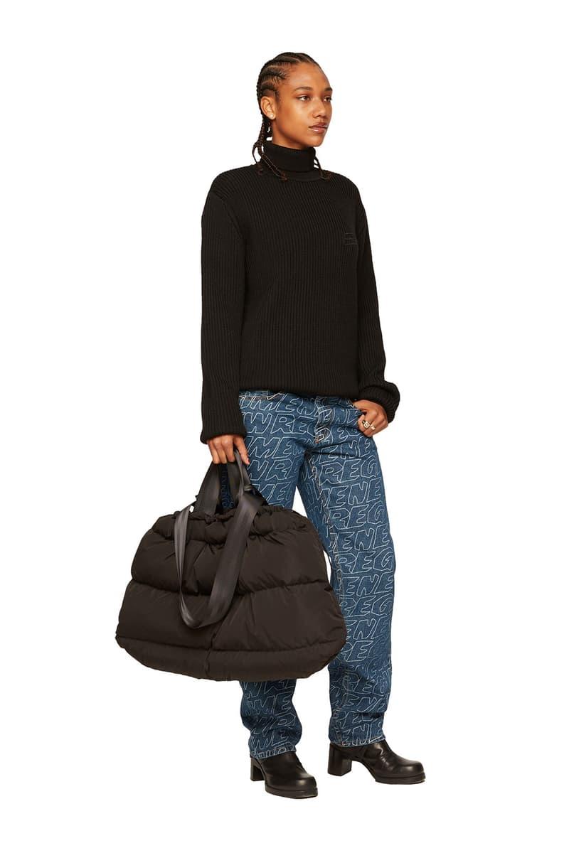 atelier new regime montreal brand fall winter lookbook black knit sweater logo jeans
