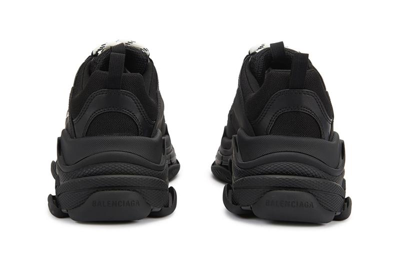 balenciaga triple s designer sneakers black colorway shoes footwear sneakerhead shoes