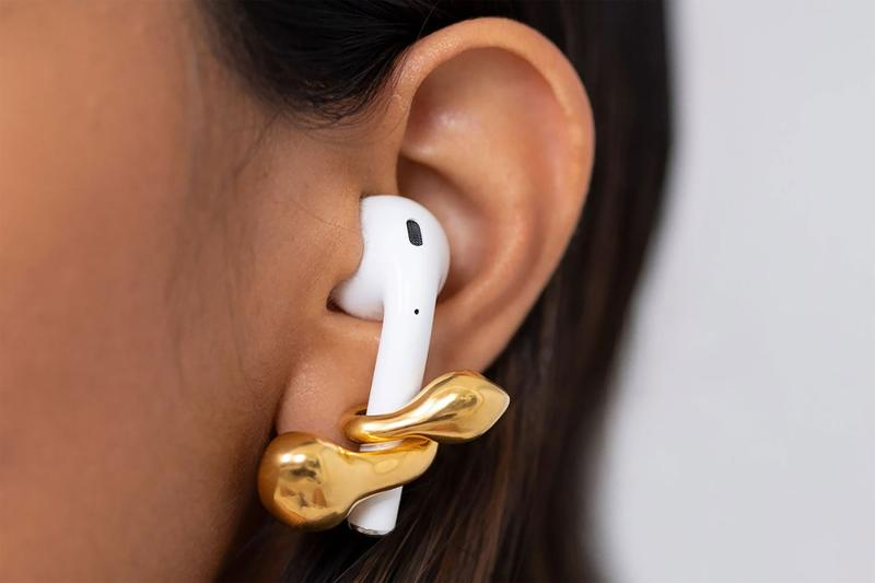 MISHO Pebble Pods Gold AirPods