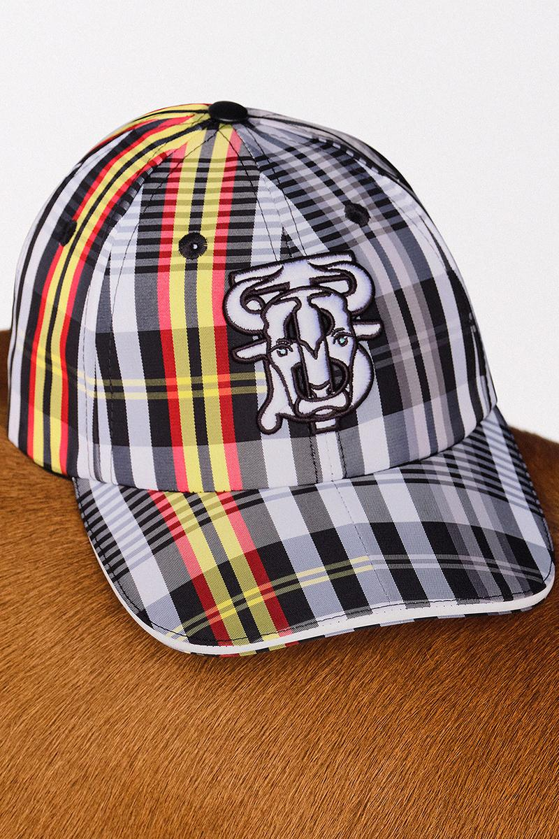 burberry lunar new year of the ox campaign collection check plaid cap hat
