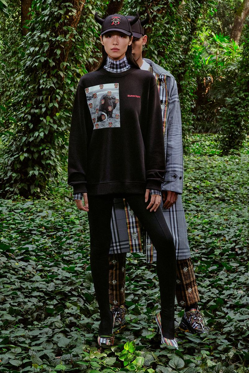 burberry lunar new year of the ox campaign collection feng li black sweatshirt leggings