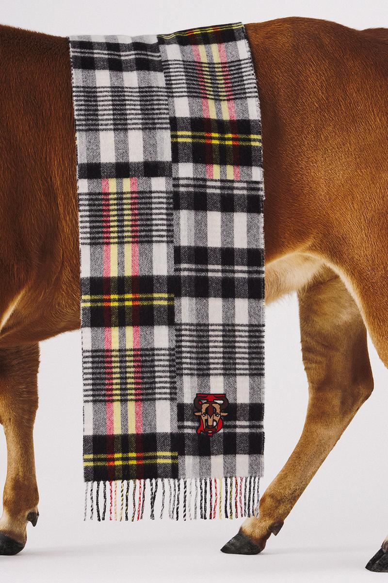 burberry lunar new year of the ox campaign collection check plaid scarf