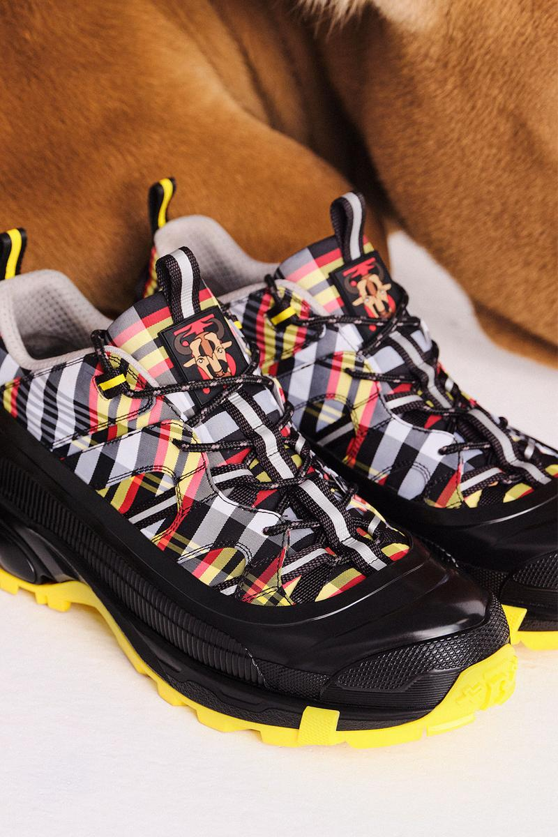 burberry lunar new year of the ox campaign collection check plaid sneakers arthur