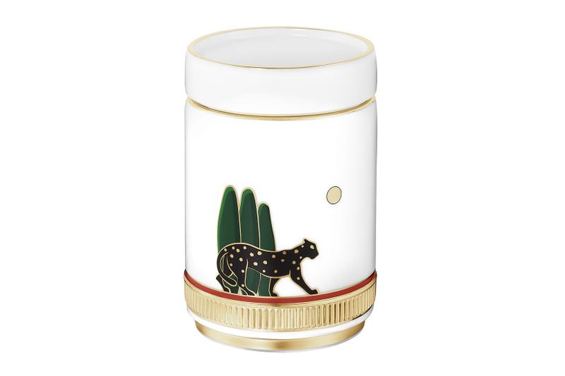cartier luxury home objects decor collection holiday christmas porcelain candle holder