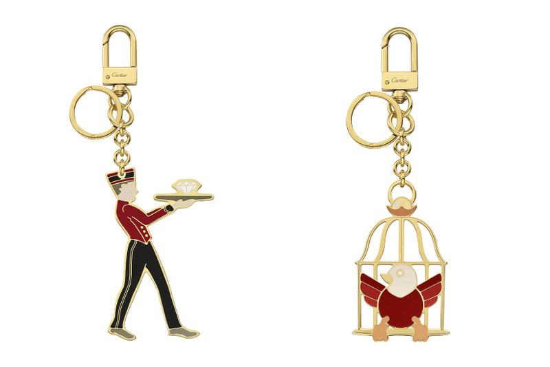 cartier luxury home objects decor collection holiday christmas keychain