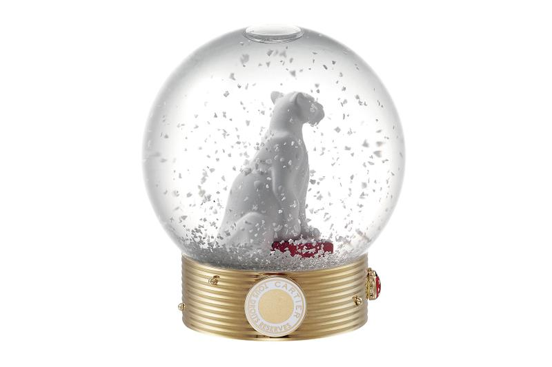 cartier luxury home objects decor collection holiday christmas snow globe panthere diabolo