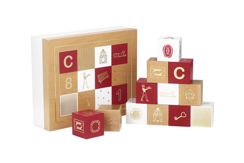 cartier luxury home objects decor collection holiday christmas wooden block game diabolo