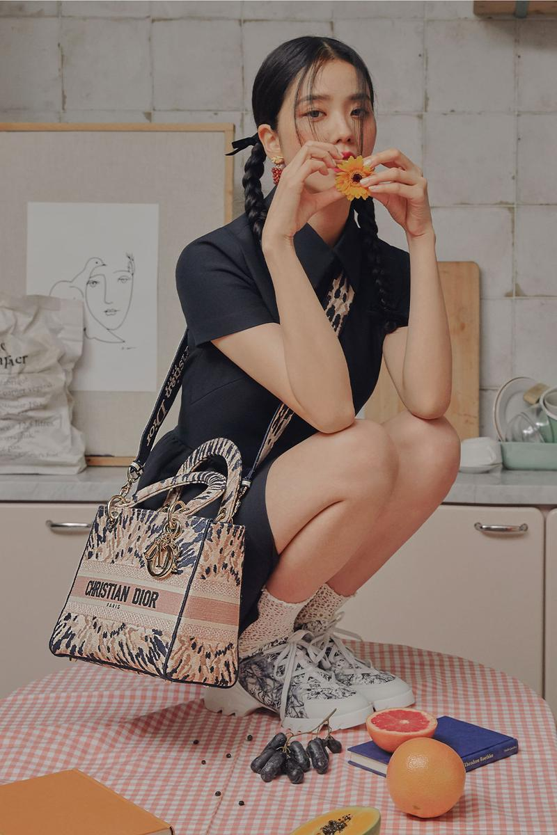 blackpink jisoo dior cruise 2021 collection lady d lite handbags connect sneakers editorial harpers bazaar korea