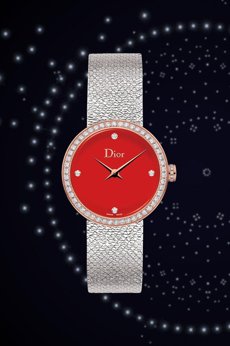 dior holiday christmas joallierie horlogerie accessories collection designer watches red dial