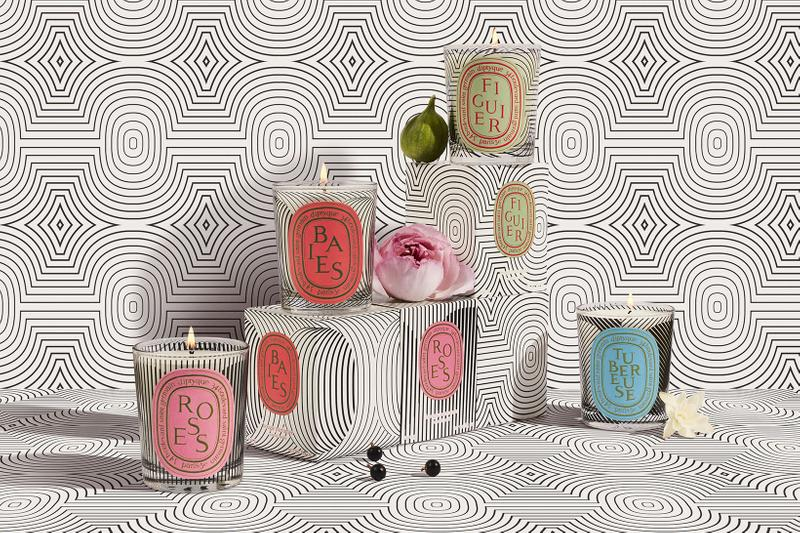 diptyque graphic collection scented candles 60th anniversary home fragrances baies figuier roses price release