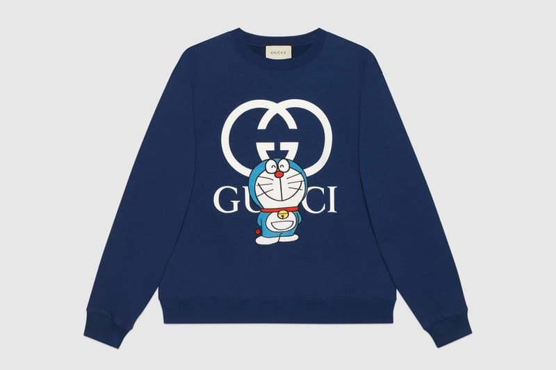gucci doraemon capsule collaboration collection gg navy sweatshirt