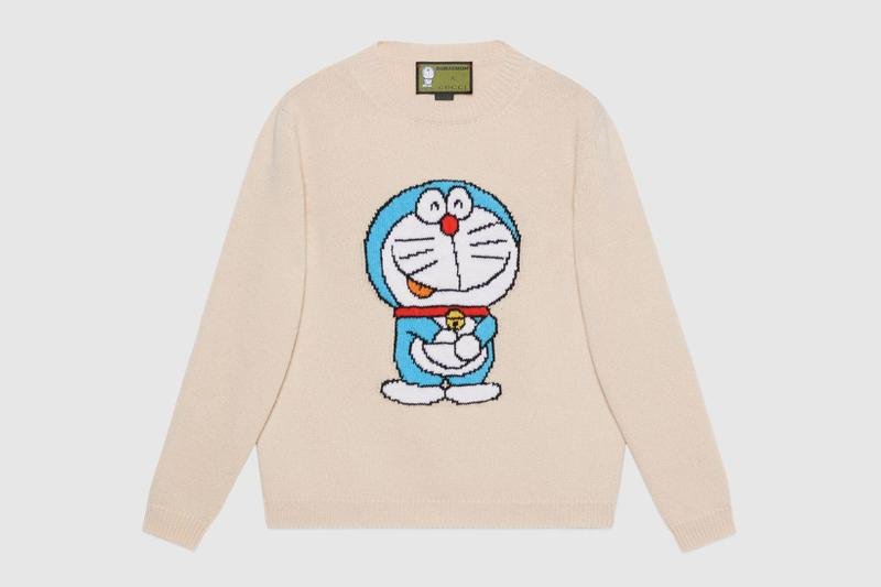 gucci doraemon capsule collaboration collection gg sweater