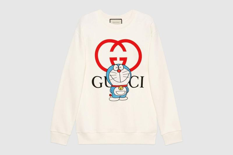 gucci doraemon capsule collaboration collection gg sweatshirt