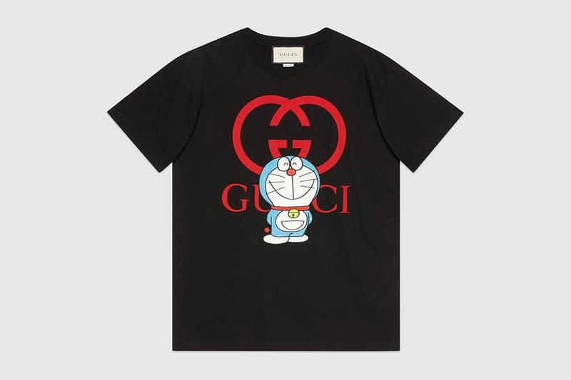 gucci doraemon capsule collaboration collection gg black tshirt