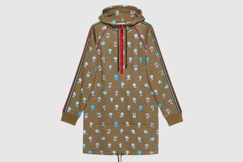 gucci doraemon capsule collaboration collection gg monogram nylon coat jacket