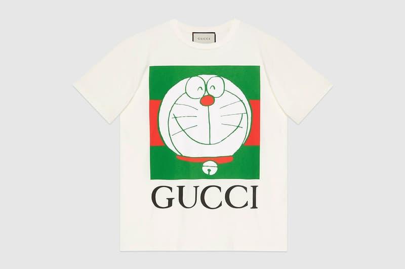 gucci doraemon capsule collaboration collection gg tshirt