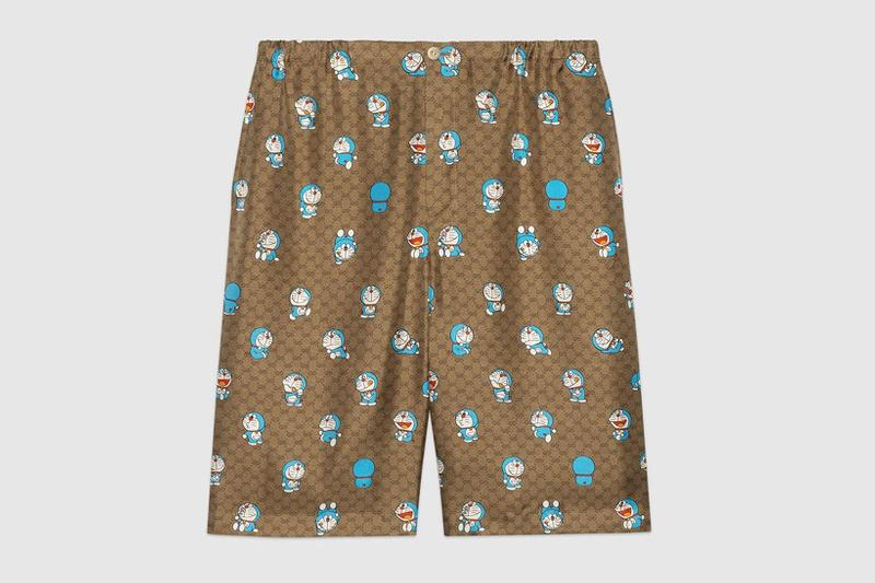 gucci doraemon capsule collaboration collection gg monogram shorts