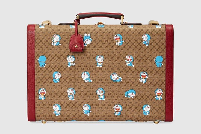gucci doraemon capsule collaboration collection gg monogram suitcase trunk