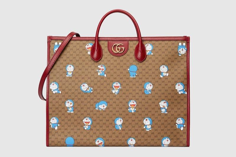 gucci doraemon capsule collaboration collection gg monogram tote bag