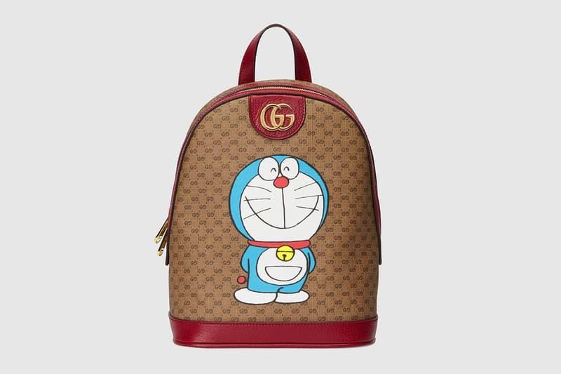 gucci doraemon capsule collaboration collection gg monogram backpack