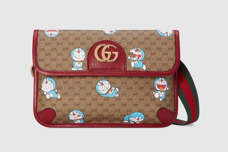 gucci doraemon capsule collaboration collection gg monogram belt bag