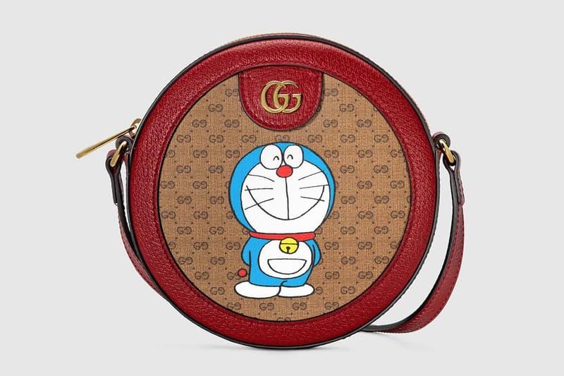 gucci doraemon capsule collaboration collection gg monogram bag