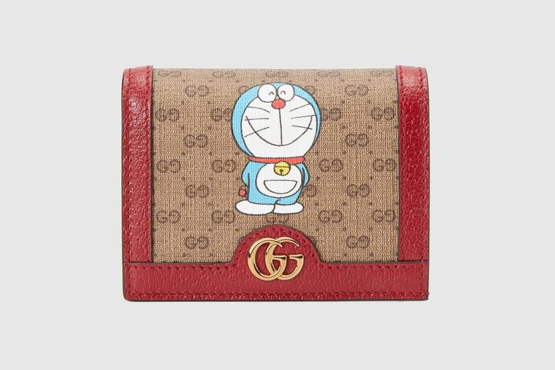 gucci doraemon capsule collaboration collection gg monogram wallets