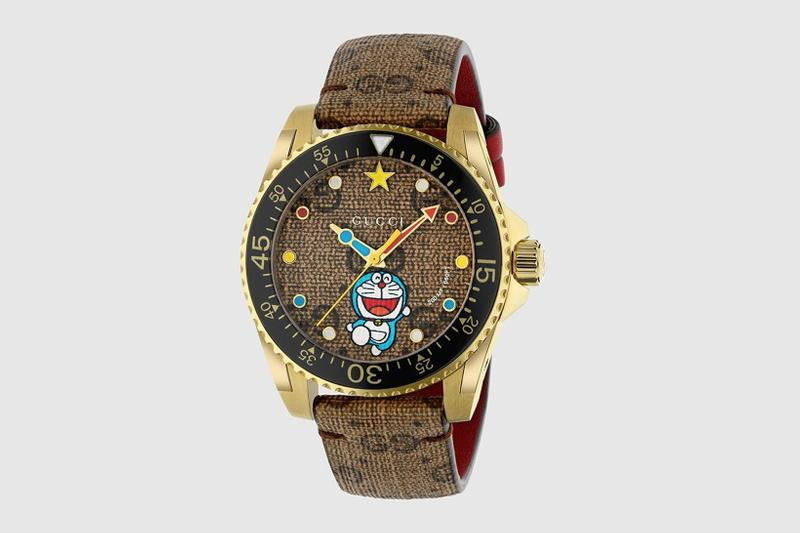 gucci doraemon capsule collaboration collection gg monogram watch