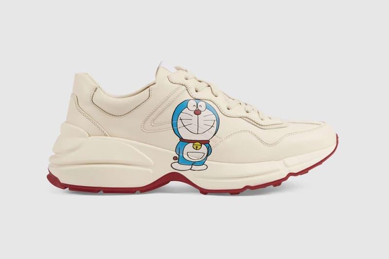 gucci doraemon capsule collaboration collection sneaker rhyton