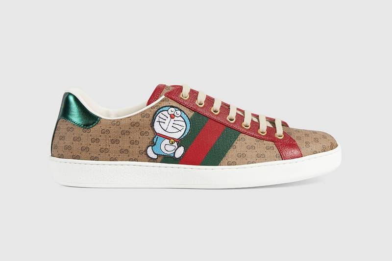 gucci doraemon capsule collaboration collection sneaker ace