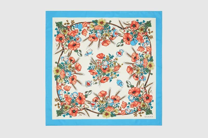 gucci doraemon capsule collaboration collection scarf