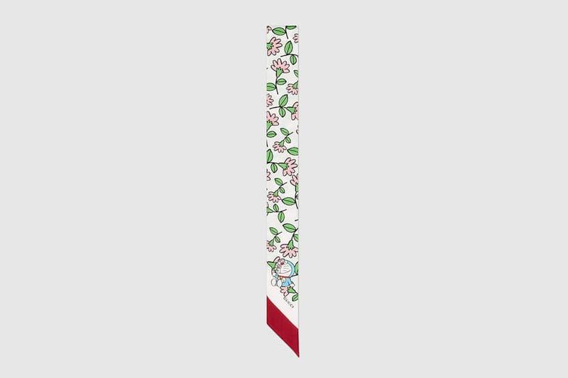 gucci doraemon capsule collaboration collection scarf bow
