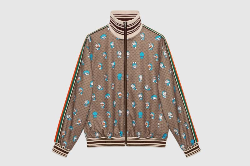 gucci doraemon capsule collaboration collection gg monogram track jacket