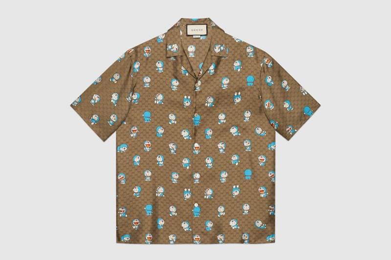 gucci doraemon capsule collaboration collection gg monogram short sleeved shirt