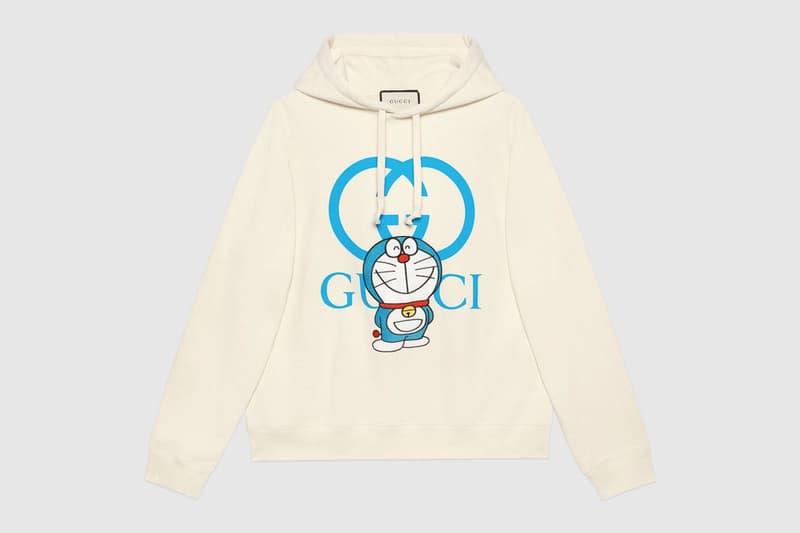 gucci doraemon capsule collaboration collection gg white hoodie